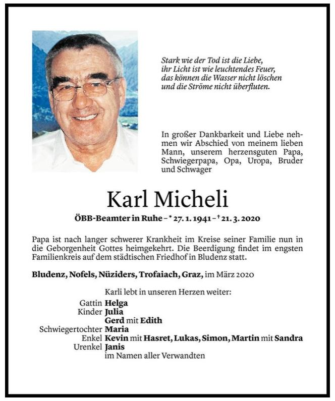 RIP Charly Micheli